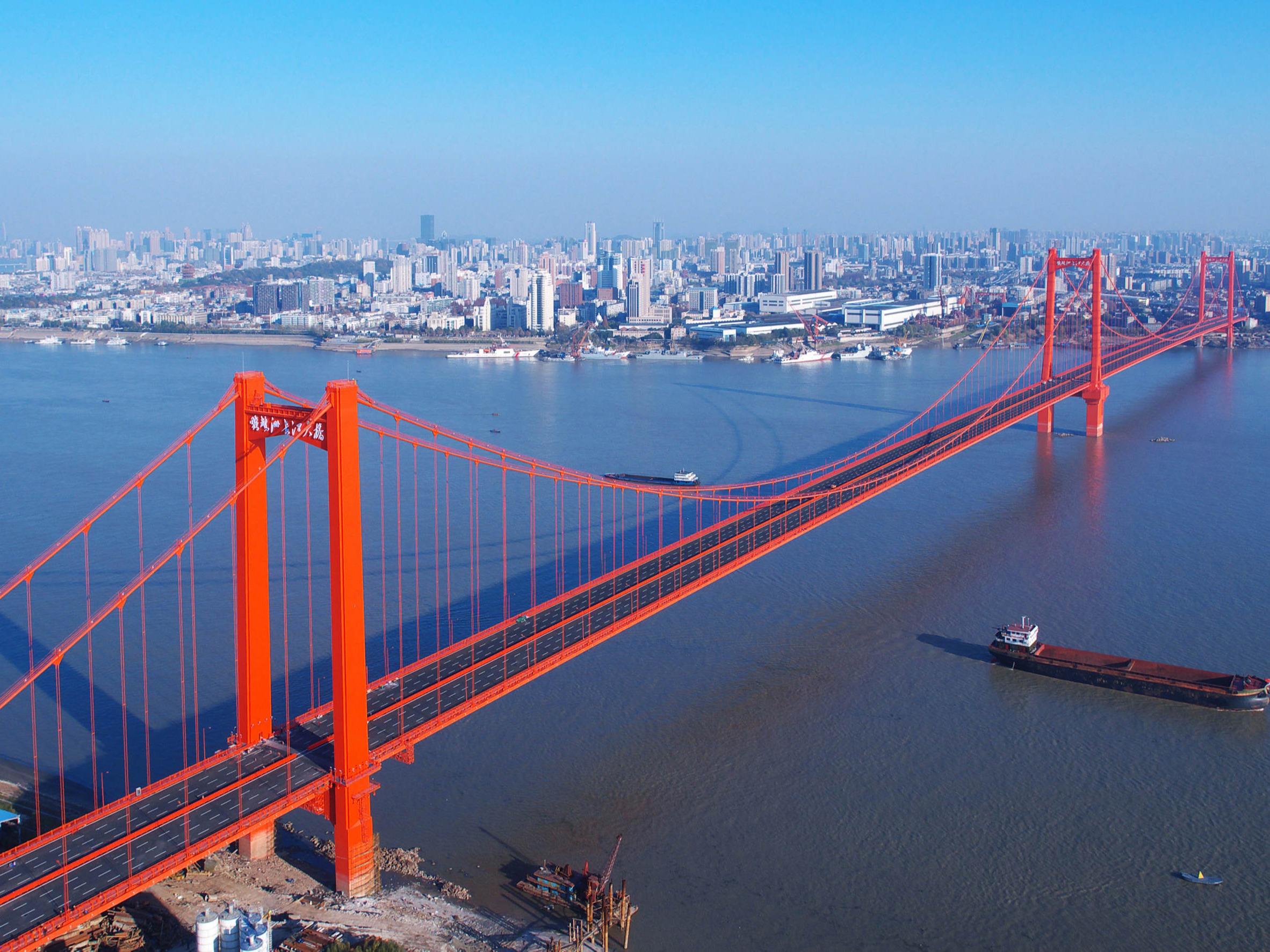 武汉鹦鹉洲长江大桥钢结构防腐工程