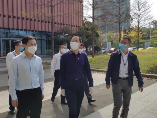 宝安区领导一行莅临广田高科,视察疫情防控及复工复产工作